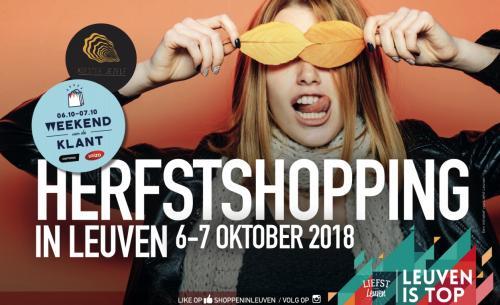 Herfstshopping en Dag van de Klant op 6 en 7 oktober in Leuven.
